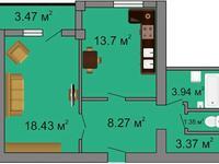1-комнатная квартира, 50.5 м², проспект Аль-Фараби 44 за ~ 12.6 млн 〒 в Усть-Каменогорске